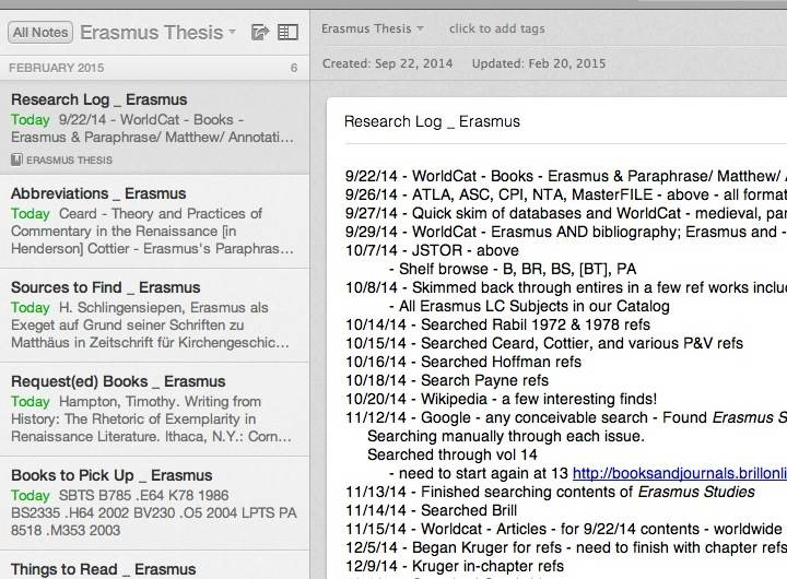 Evernote research paper